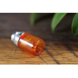 Red glass drip tip