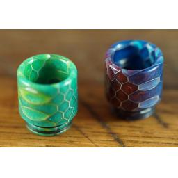 Super wide geometric drip tip
