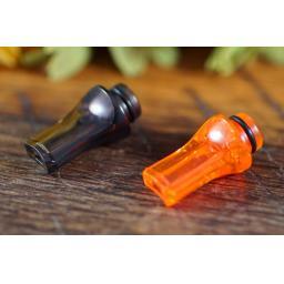Flat plastic drip tip